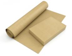 Recycled kraftpapier eenzijdig glad ecru