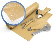 Geparaffineerd kraftpapier voorzien van wax als barriere tegen vocht en vet
