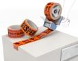 Waarschuwingstape van oranje PP